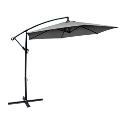 Milano Outdoor Hanging and Folding Umbrella 3m Grey