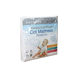 Odyssey Living Waterproof Cotton Baby Cot Mattress Protector