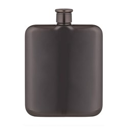 Davis & Waddell Fine Foods Summit Stainless Steel Hip Flask 170ml Gunmetal Grey