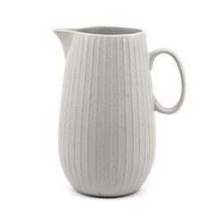 Salt & Pepper Caro Pottery Jug White 1.3L