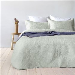 Bambury Paisley Mist Green Coverlet Set Single/Double
