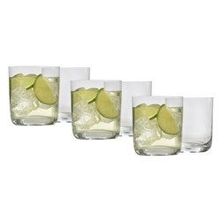 Ecology Crystalline Glass 6 Piece Double Old Fashioned Glass Set 370ml Clear