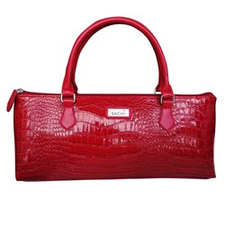 Sachi Insulated Wine Purse Crocodile Red