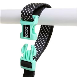 Doog Pongo Clip It Canvas Dog Lead Black & White Spots