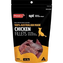 Prime100 SPT Chicken Fillet Dog Treats 100g