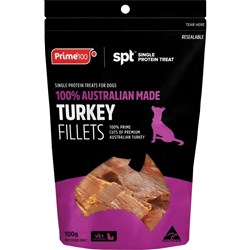 Prime100 SPT Turkey Fillet Dog Treats 100g