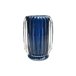 Florabelle Living Ridged Tealight Tall Blue 12cm