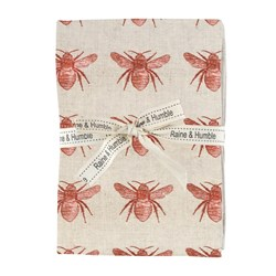Raine & Humble Abby Bee Recycled Cotton 4 Piece Napkin Set Terracotta