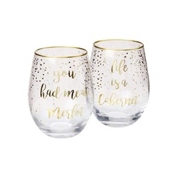 Maxwell & Williams Celebrations Stemless Glass 500ml Set of 2 Cabernet Merlot