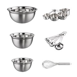 Soffritto Professional Bake Stainless Steel Mix & Measure 12 Piece Baking Set