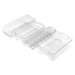 Scullery Plastic 4 Piece Fridge & Freezer Organisers Set