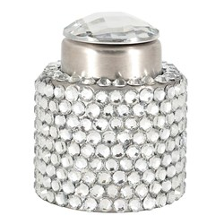 Ambrosia Glitz & Bubbles Stainless Steel Champagne Stopper Silver