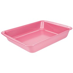 Soffritto Commercial Non-Stick Carbon Steel Rectangular Cake Pan 30 x 24 x 5cm Pink