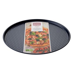 Bakers Delight Cuisson Carbon Steel Non Stick Pizza Crisper Tray 30cm Navy