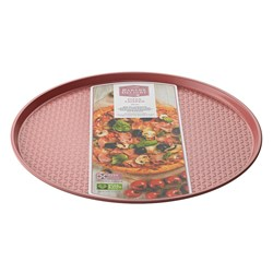 Bakers Delight Cuisson Carbon Steel Non Stick Pizza Crisper Tray 30cm Rose