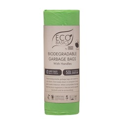Eco Basics 10 Piece Biodegradable Garbage Bags Set Small 50L