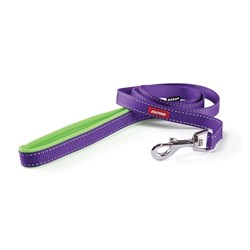 Kazoo Active Nylon Dog Lead 15mm Purple & Lime 180cm