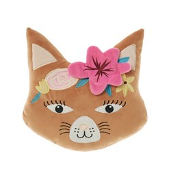 Hiccups Caitlin Cat Face Ginger Novelty Cushion