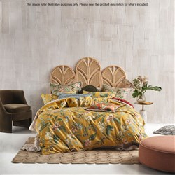Linen House Anastacia Chai Queen Bed Quilt Cover Set