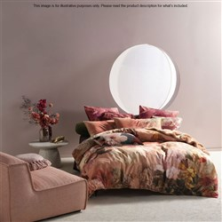 Linen House Floriane Terracotta Queen Bed Quilt Cover Set