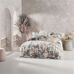 Linen House Habitation Teal King Bed Quilt Cover Set