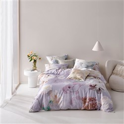 Linen House Annella Lilac Super King Bed Quilt Cover Set