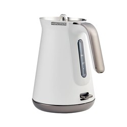 Morphy Richards Aspect Black Chrome Kettle Luxe White