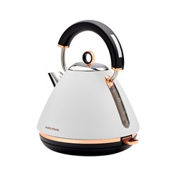 Morphy Richards Accent Rose Gold Kettle Matte White