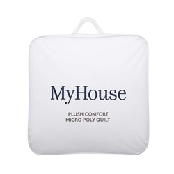 MyHouse Plush Comfort Micropoly Blend Super Bed Quilt