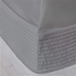 MyHouse Ashton Quilted Valance King Bed Light Grey