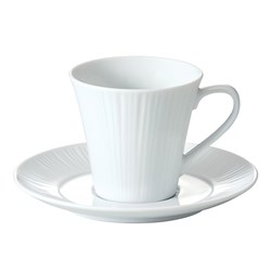 Noritake Conifere Fine White Porcelain Coffee Cup & Saucer 205ml