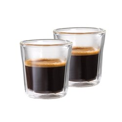 Baccarat Barista Facet Double Wall Espresso Glass 88ml Set of 2