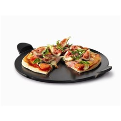 Baccarat Gourmet 46cm Pizza Stone With Handles - Black