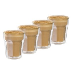 Baccarat Barista Facet Double Wall Latte Glass 236ml Set of 4