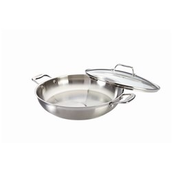 Baccarat iconiX Stainless Steel Chef Pan with Lid 32cm