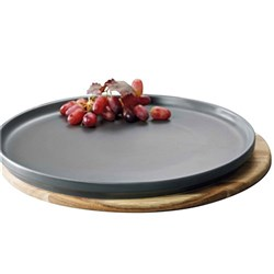 Alex Liddy Share Round Platter 32cm Charcoal