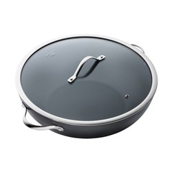 Baccarat iD3 Hard Anodised Non Stick Wok with Lid 36cm