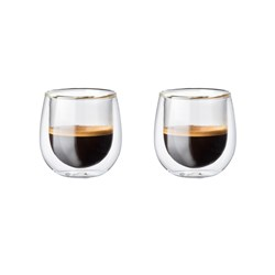 Baccarat Barista Cafe Double Wall Espresso Glass 90ml Set of 2