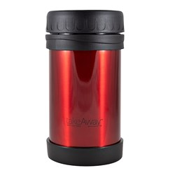 TakeAway Out Double Wall Stainless Steel Food Jar Red 500ml