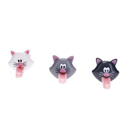 Joie Meow Novelty Cat Bag Ties Set of 3