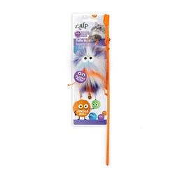 All For Paws Fluffer Wand Orange Cat Toy