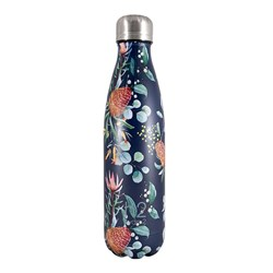 h2 hydro2 Double Wall Stainless Steel Water Bottle 500ml Flower