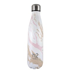h2 hydro2 Double Wall Stainless Steel Water Bottle 500ml Marble
