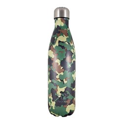 h2 hydro2 Double Wall Stainless Steel Water Bottle 750ml Green Camo