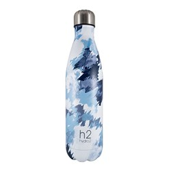 h2 hydro2 Double Wall Stainless Steel Water Bottle 750ml Blue Camo