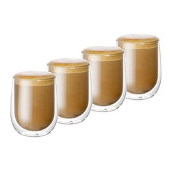 Baccarat Barista Cafe Double Wall Glass 250ml Set of 4