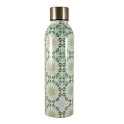 Marie Claire Mosaique Stainless Steel Drink Bottle 500ml Teal