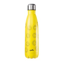 Jewelchic Happy Sun Stainless Steel Drink Bottle 500ml Yellow