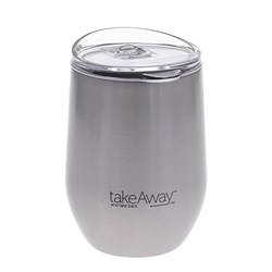 TakeAway Out Stainless Steel Insulated Travel Mug 320ml Silver