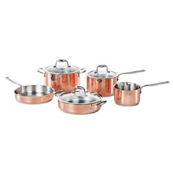 Baccarat Le Connoisseur 5 Piece Stainless Steel Cookware Set Copper